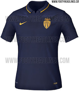 Gambar render jersey As Monaco away terbaru musim 2015/2016