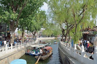 Pedal boats on Qianhai near Houhai in Beijing