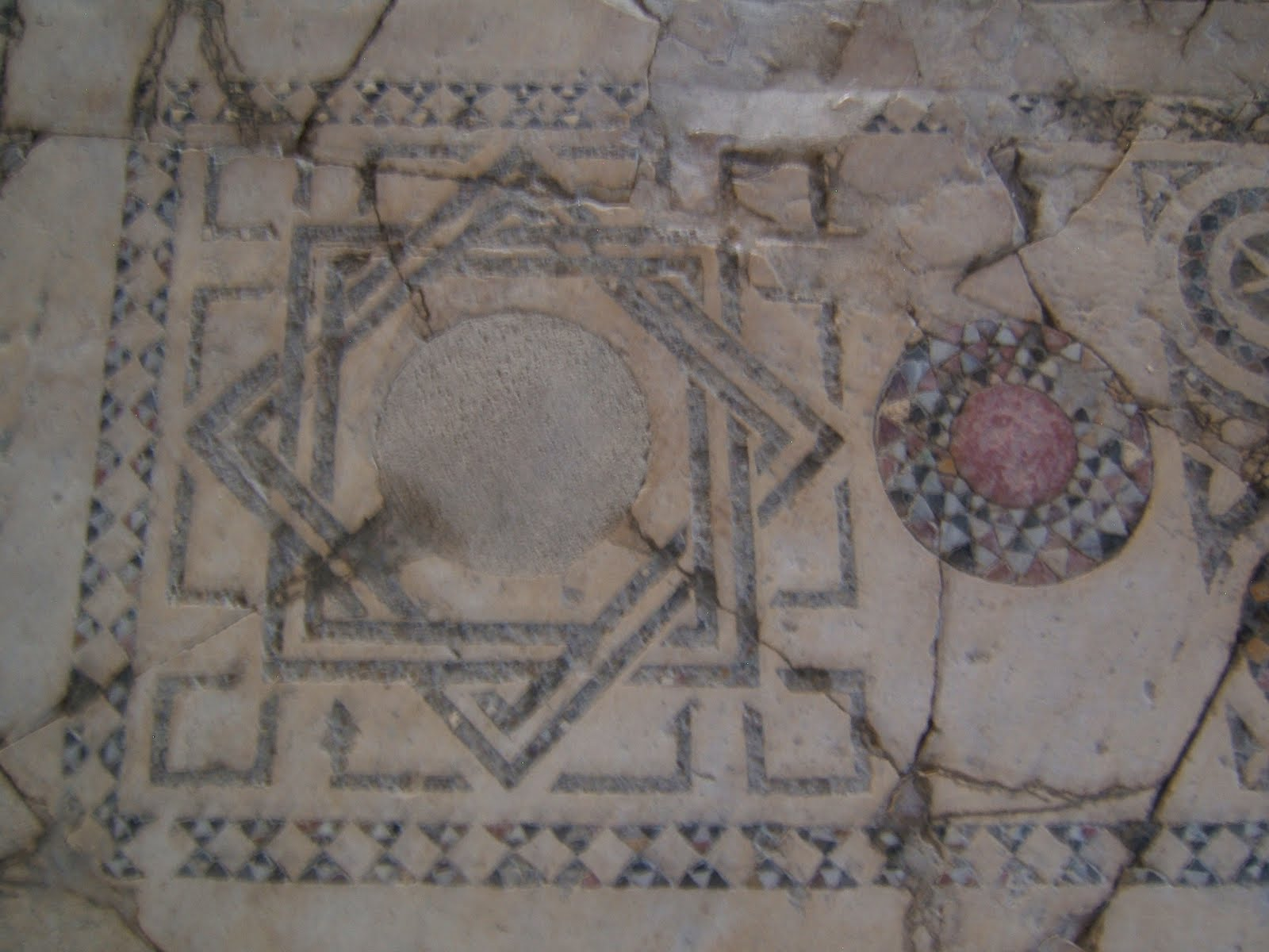 "Floor mosaic ""knot"", from the Church of St. Nicholas, Demre, Turkey"