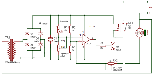 Automatic Temperature Control Fan Electronics Circuits