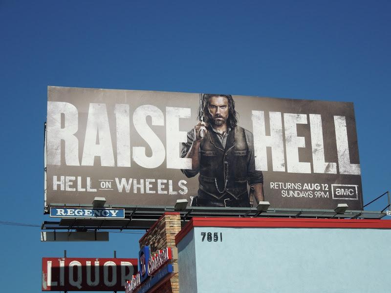 Raise Hell Hell on Wheels season 2 billboard