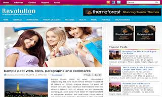 Revolution (PBT) Blogger Template