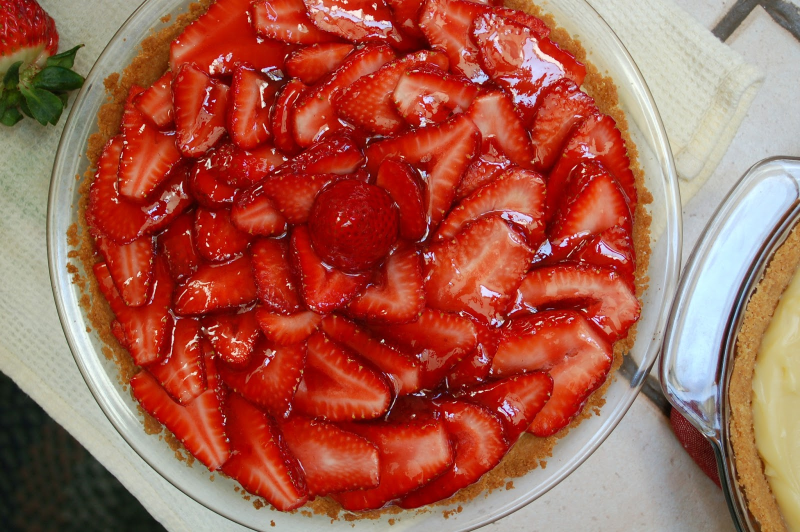The Spice Garden: Strawberry Custard Pie ...