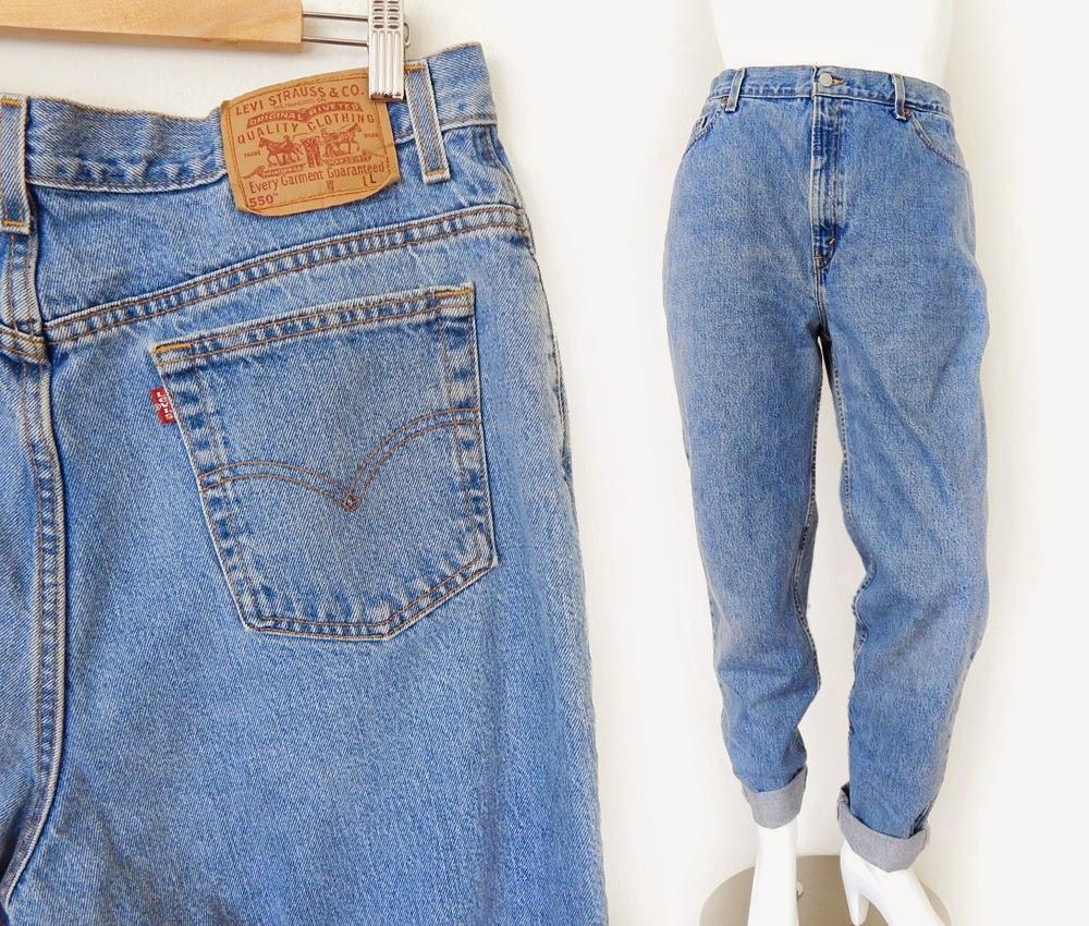 c43bf61da58 Vintage 90s Levi s 550 Plus Size High Waist Jeans - Size 18 LONG