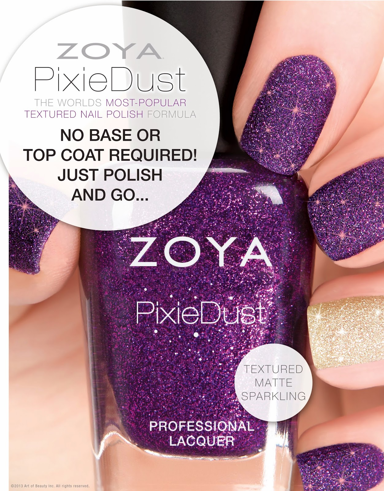 Zoya Pixie Dust Chyna Ruby Wing Color-Changi...