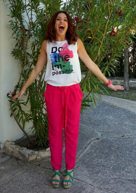 conjunto verano pantalon rosa