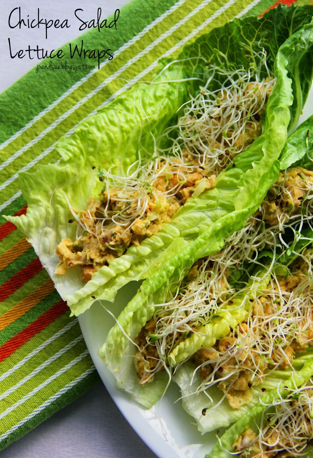 Jo and Sue: Chickpea Salad Lettuce Wraps