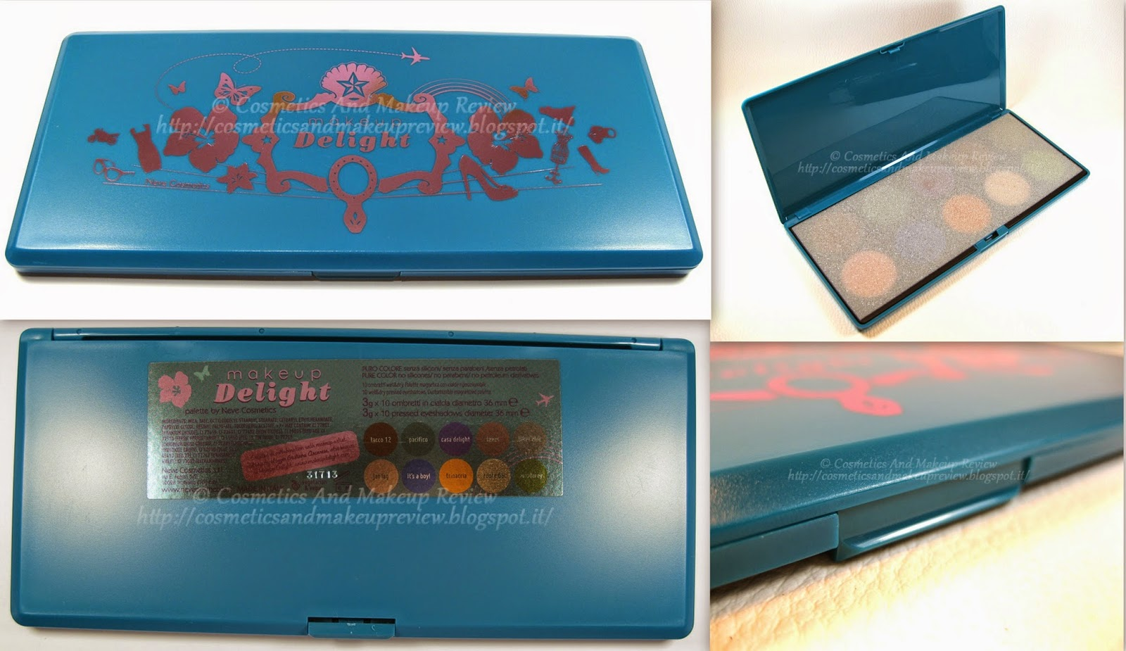 Neve Cosmetics - Makeup Delight Palette - packaging