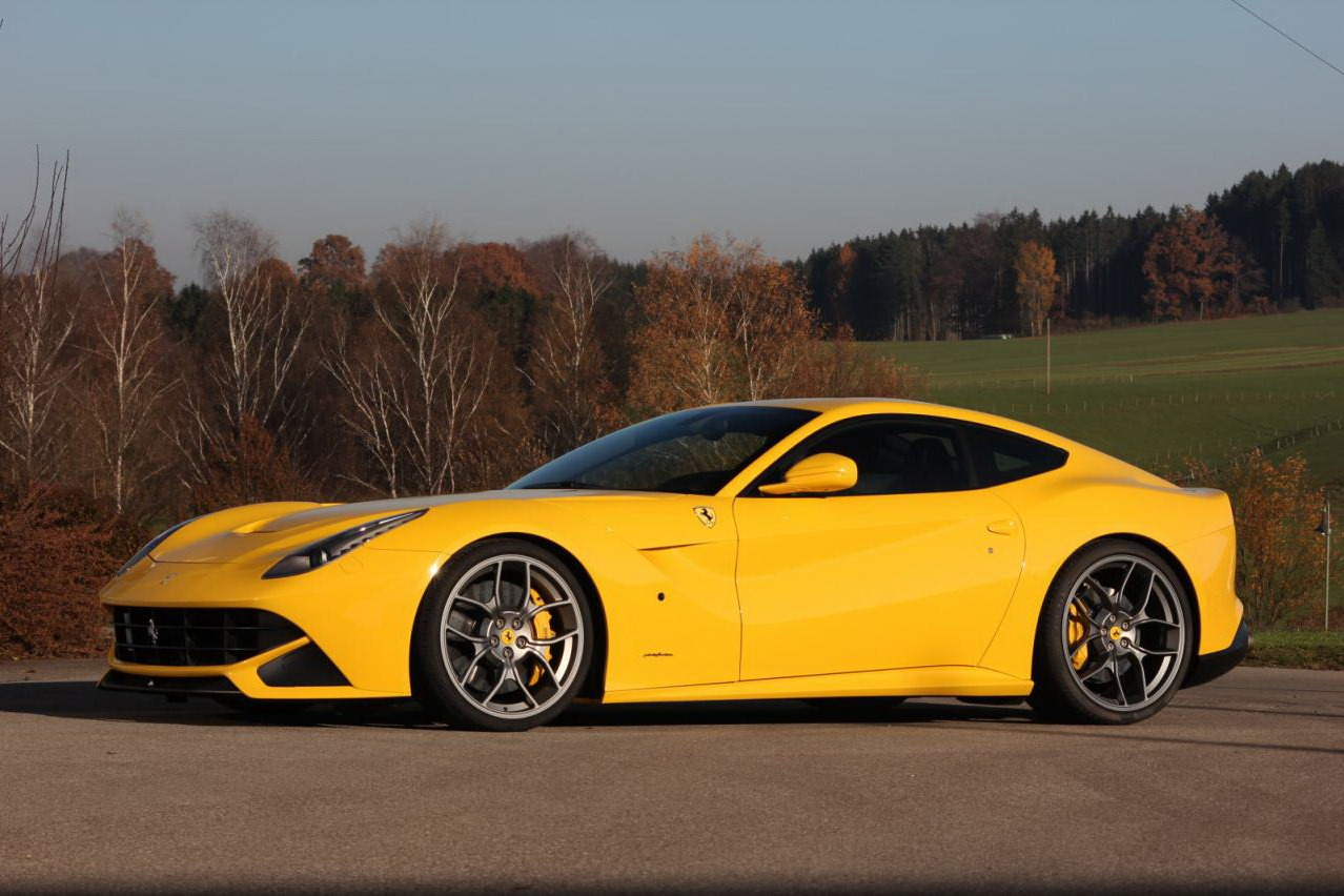 a mechanical symphony ferrari f12 berlinetta in yellow. Black Bedroom Furniture Sets. Home Design Ideas