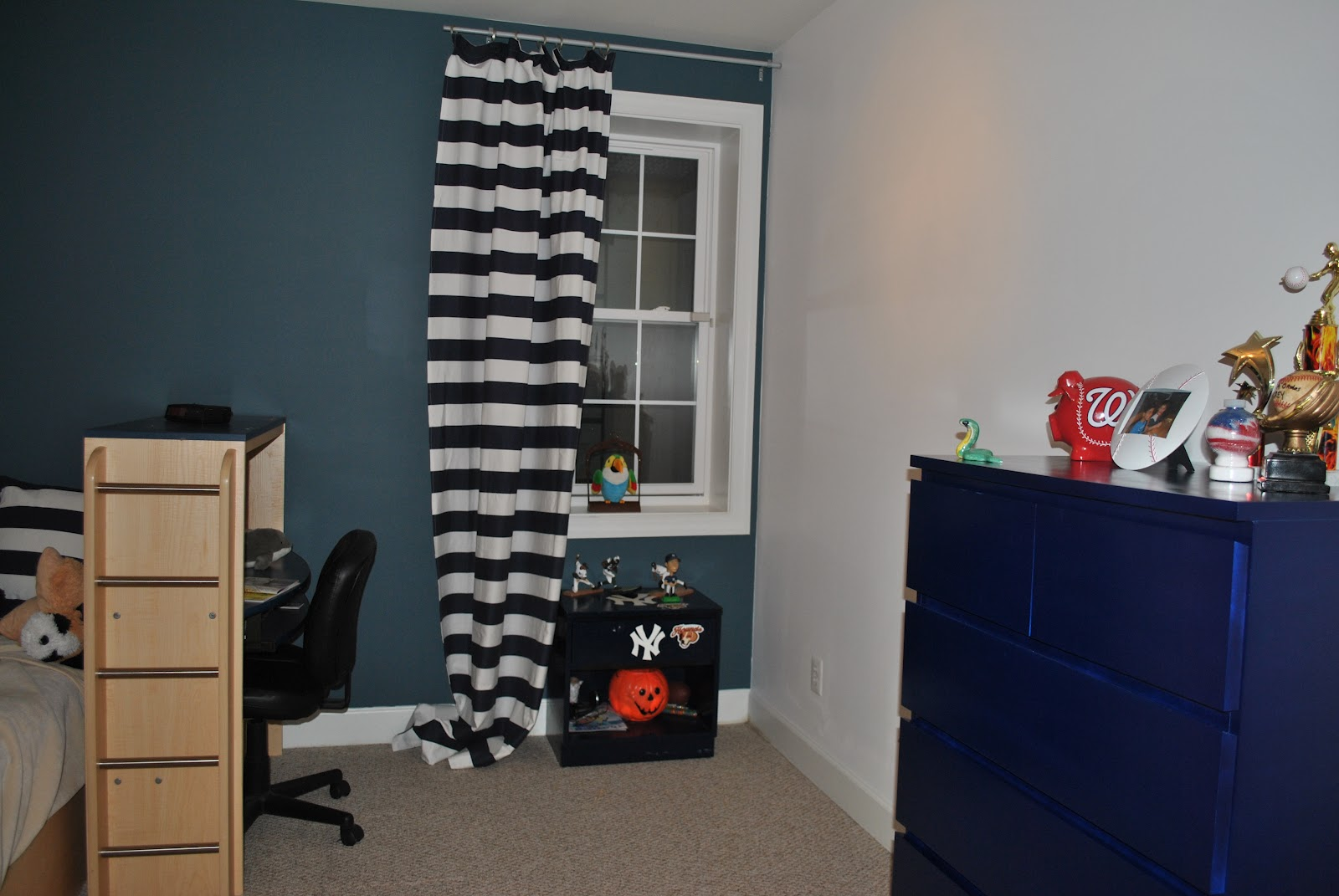 Adventures In DIY Tween Boy Baseball Room Part II Curtain Rod