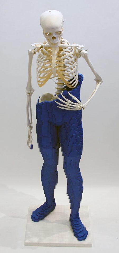 Mr Bones, escultura,Lego,Nathan Sawaya,sculpture,kielh's,brick,bloque
