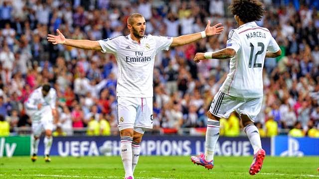 بنزيمة سجل الهدف رقم 1000 لريال مدريد في دوري ابطال اوروبا