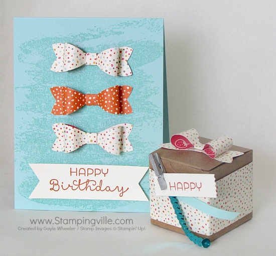 Birthday Bows Card and Tiny Treat Box Ensemble