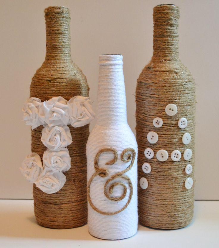 Bodas a mares decorar con botellas for Ideas para decorar botellas