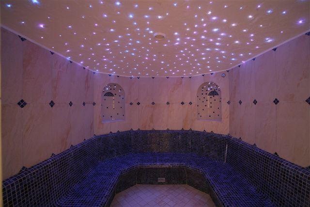 Arredo in illuminazione fibre ottiche a soffitto