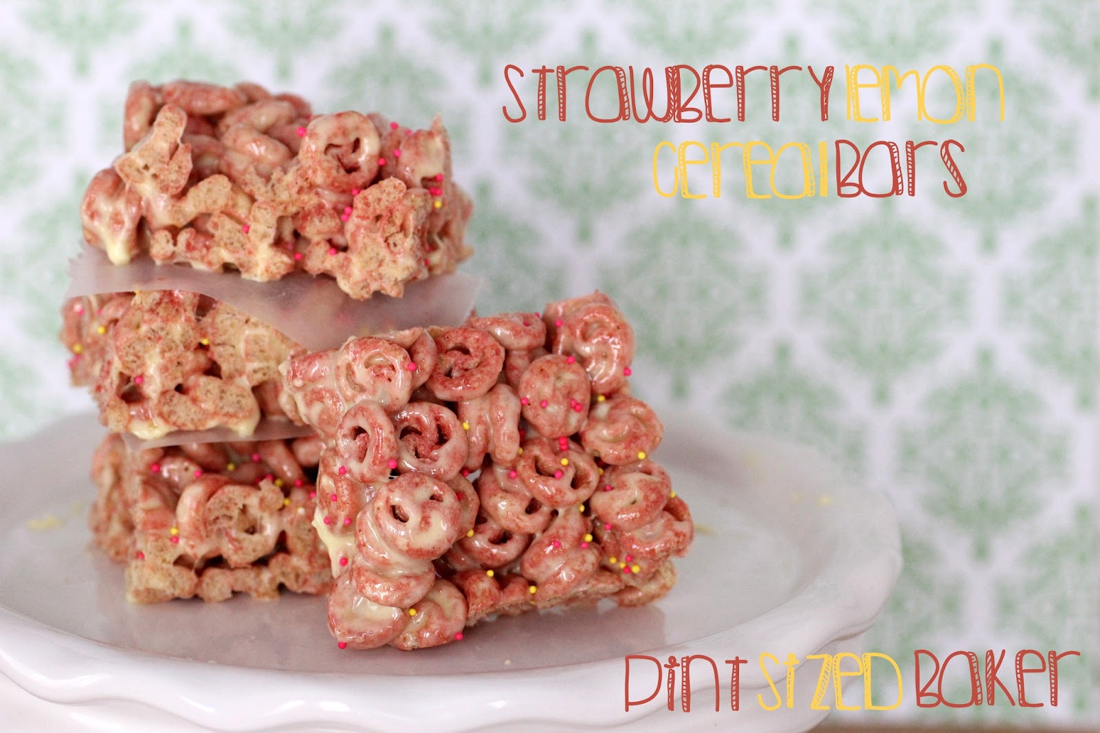 Strawberry lemon cereal bars pint sized baker strawberry lemon cereal bars ccuart Gallery