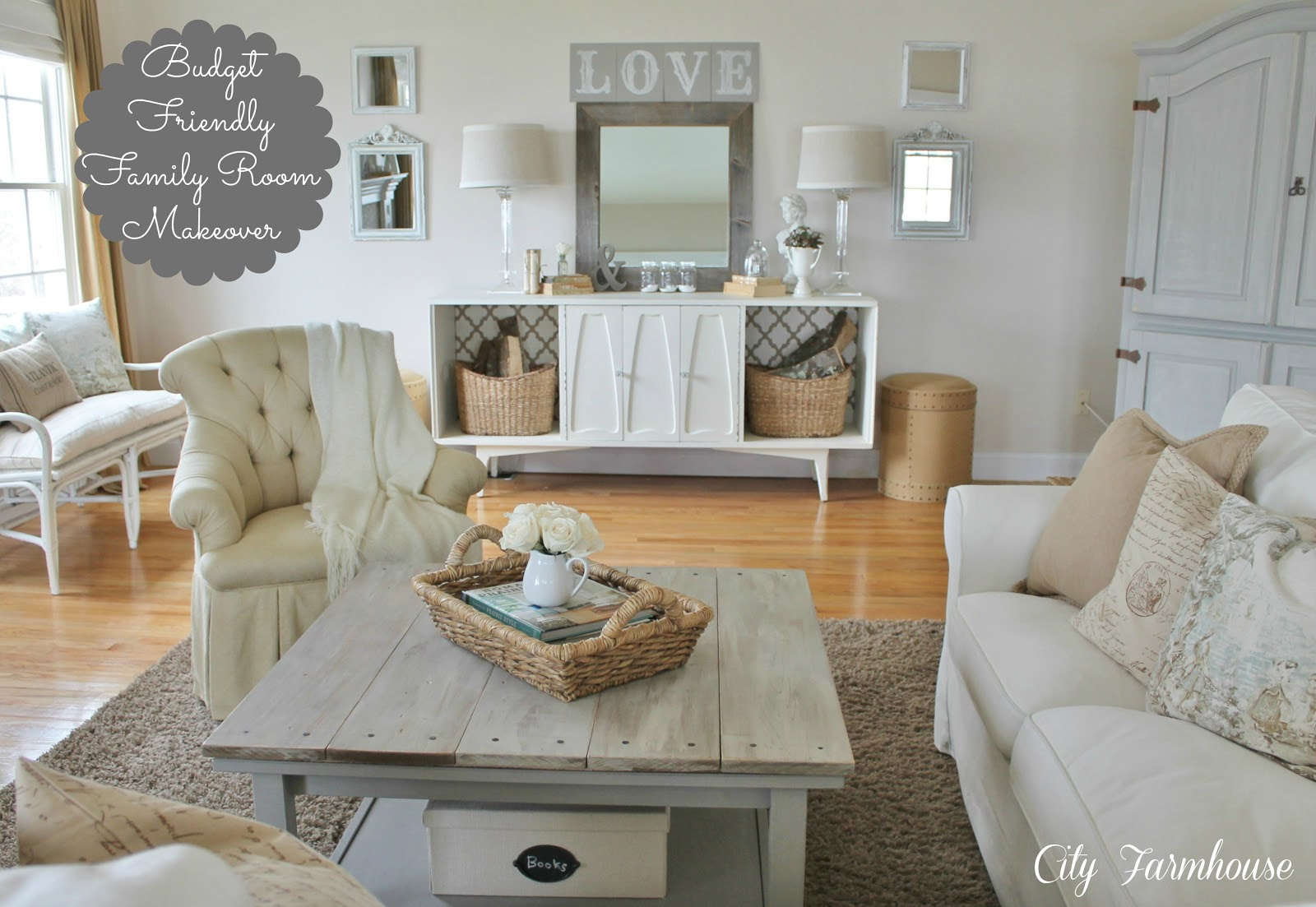 Family Room Reveal Thrifty Pretty Functional City