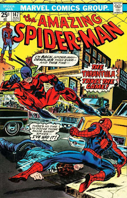 Amazing Spider-Man #147, the Tarantula attacks Spidey in the streets of New York