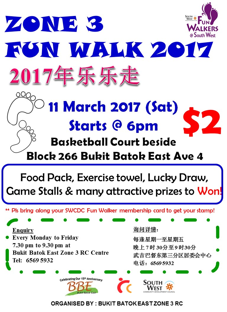 Zone 3 Fun Walk 2017