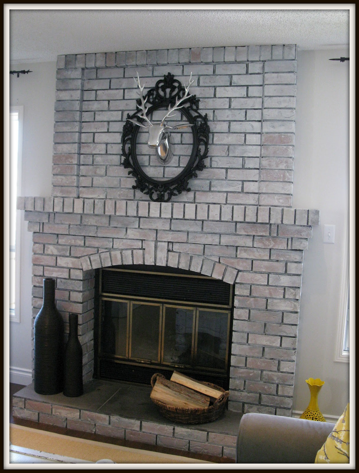 creating domestic bliss white wash fireplace