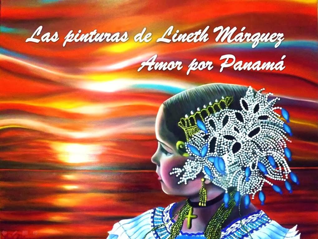 Lineth Márquez pintora panameña