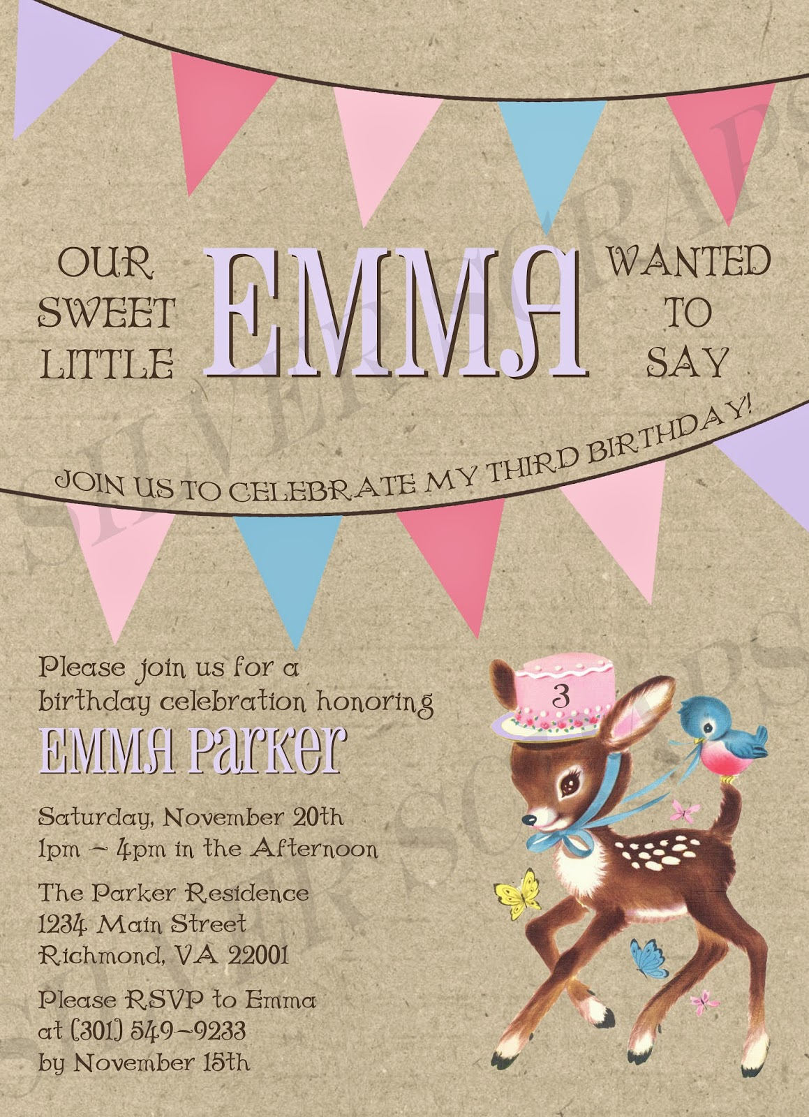 Finding Beauty In Life Vintage Childrens Birthday Invitations - Vintage girl birthday invitation