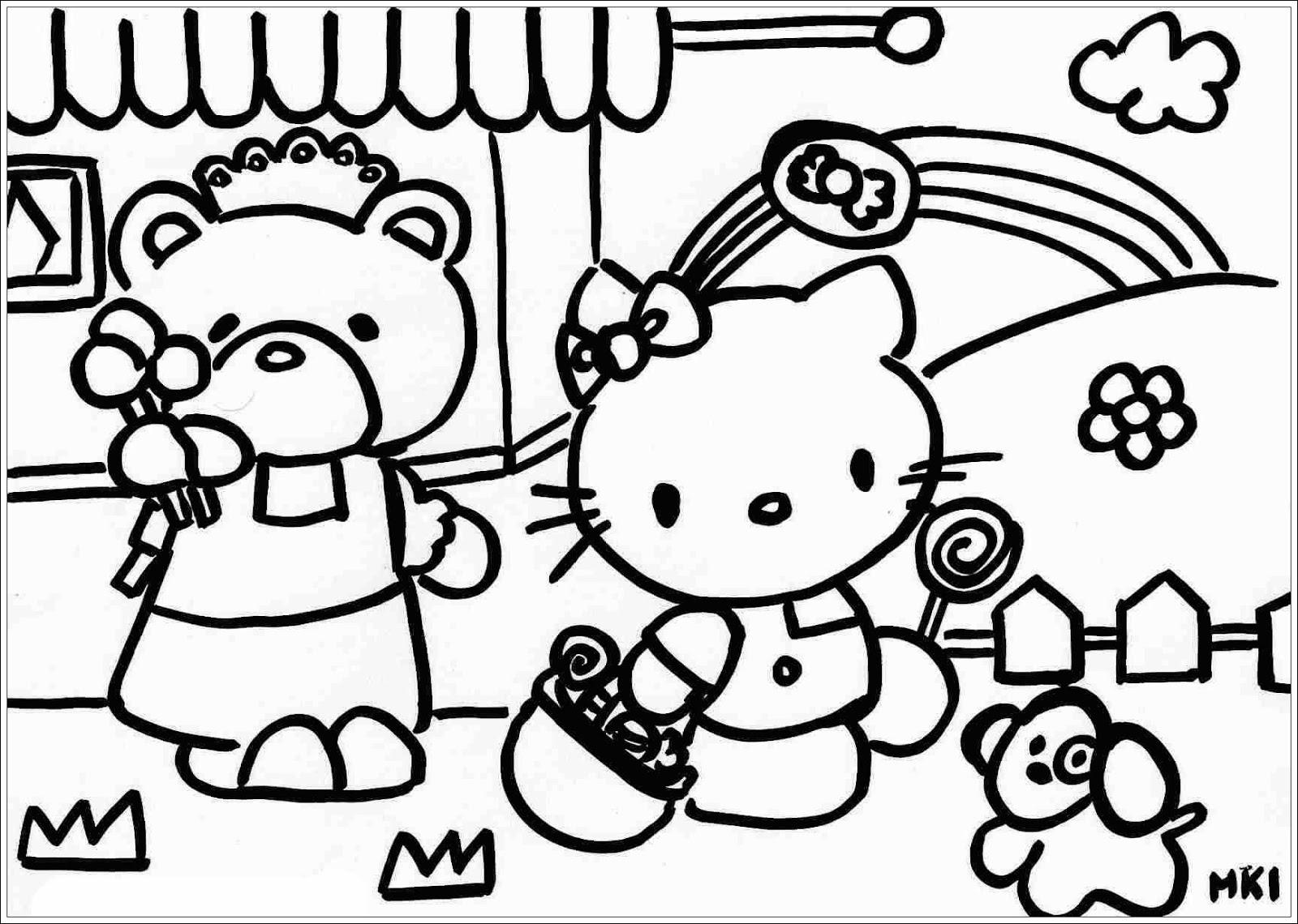 von Hello Kitty zum Ausdrucken