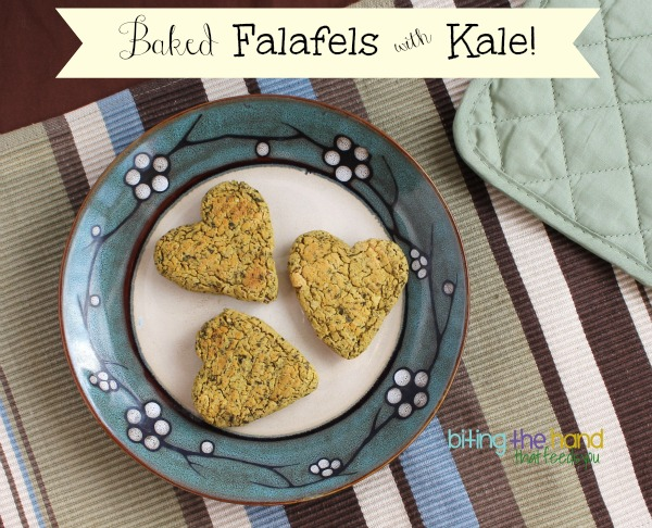 Baked Kale and Chickpea Falafels Recipe - Simple, gluten-free, vegan