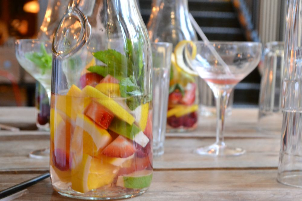 fruit water jug jamies italian glasgow