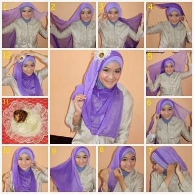 Ini Cara memakai jilbab segitiga