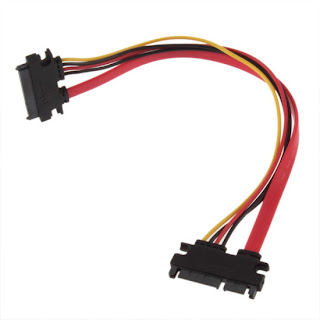 7+15 Pin Serial SATA Data power combo extension Cable ~