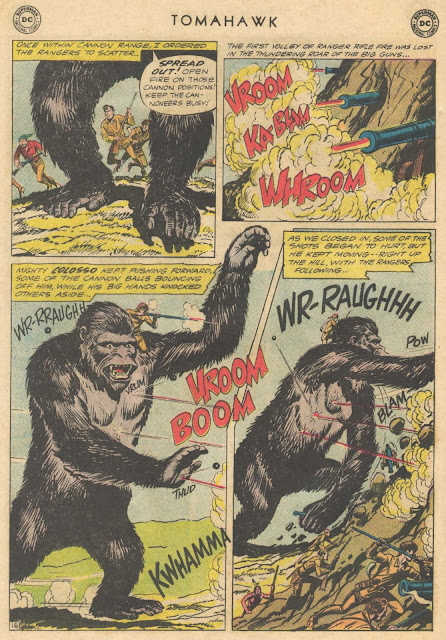 Tomahawk 86 page with gorilla King Colosso, sound effect Kwhamma