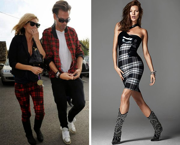 Tartan style 2013 on Design and fashion recipes by Cristina Dal Monte (Kate Moss)