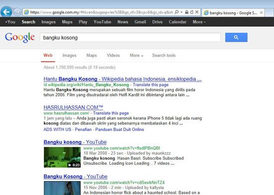 Bangku Kosong Paling Top Google HASRULHASSAN.COM
