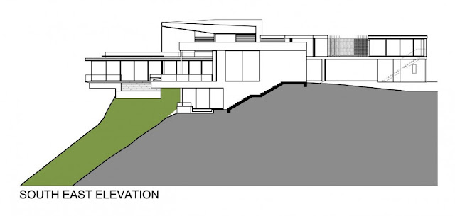 South East elevation of the villa sow