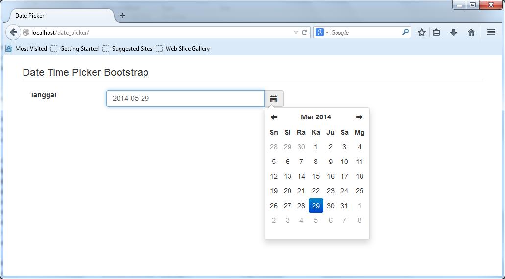Membuat Date Time Picker dengan Bootstrap
