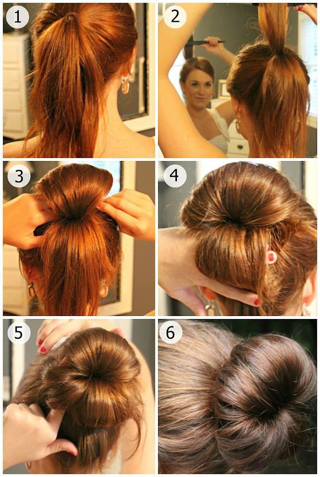 Populaire coiffure facile cheveux mi long PI67