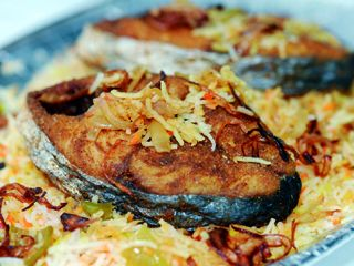 أطباق رئيسية - برياني سمك - طريقة برياني السمك - طريقة عمل برياني سمك