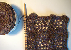 'starting my qiviut lace scarf' by andreakw on Flickr