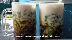resep praktis dan mudah membuat (mengolah) minuman segar es cendol gula merah spesial enak, manis, lezat