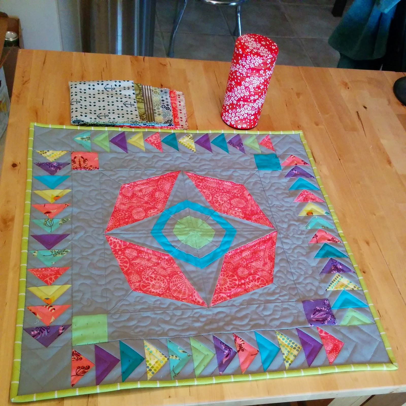 schnitzel and boo mini quilt swap  finished