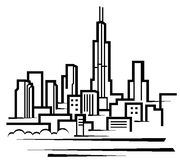 Hd wallpaper xda - Chicago Skyline Simple Drawing Bing Images