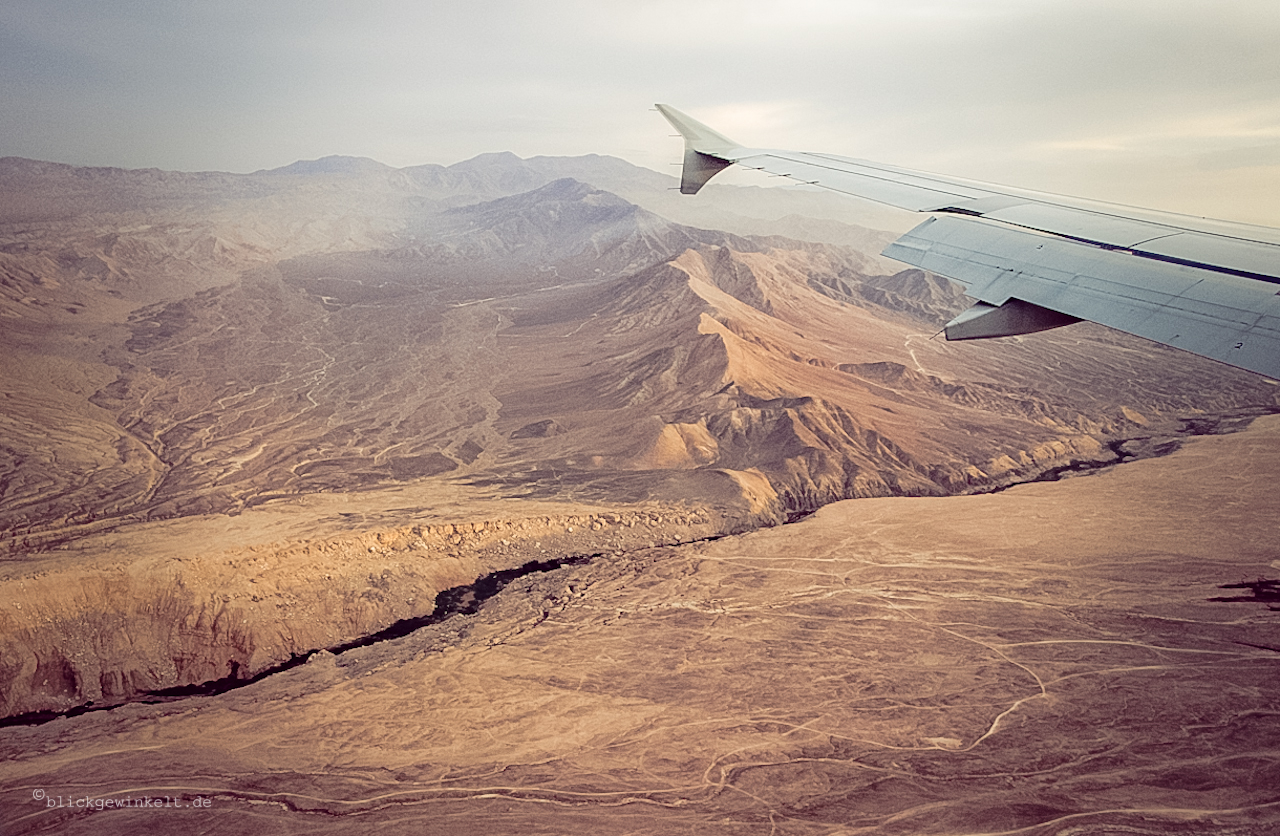 Landeanflug Atacama-Wüste, Chile