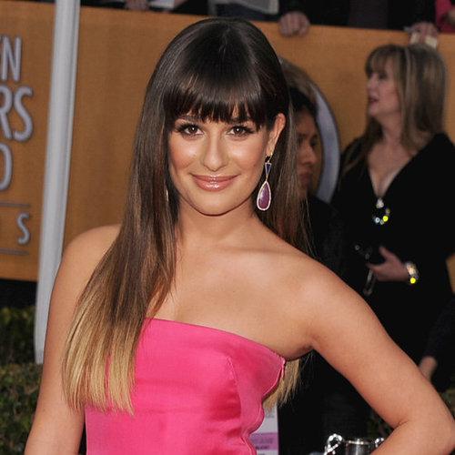 Lea Michele,ombre,hairstyle,pageant