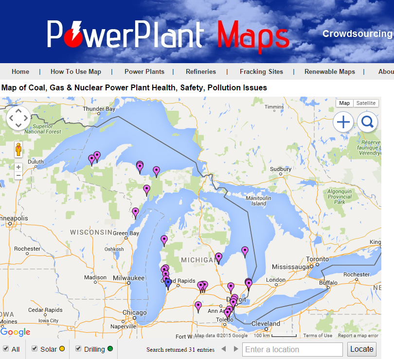 Power Plant Maps Map of Coal Power Plants in Michigan to Shutdown