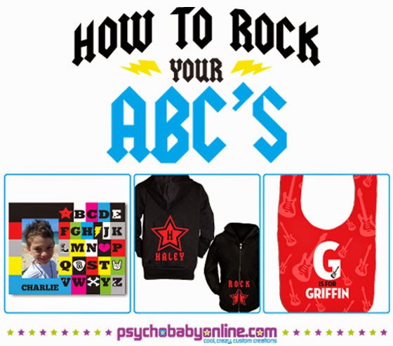Rock & Roll Alphabet Shirts for Kids