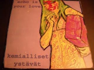 ECHO IS YOUR LOVE/KEMIALLISET YSTAVAT-S.T., SPLIT LP, 1999, FINLAND