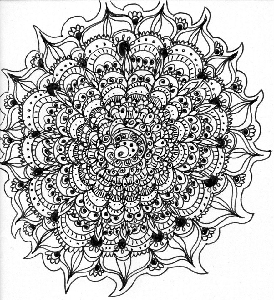 difficult mandala coloring pages - photo#7