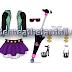FREE Monster High Jacket, Skirt, Shoes,Sunglasses,Earings and Umbrella