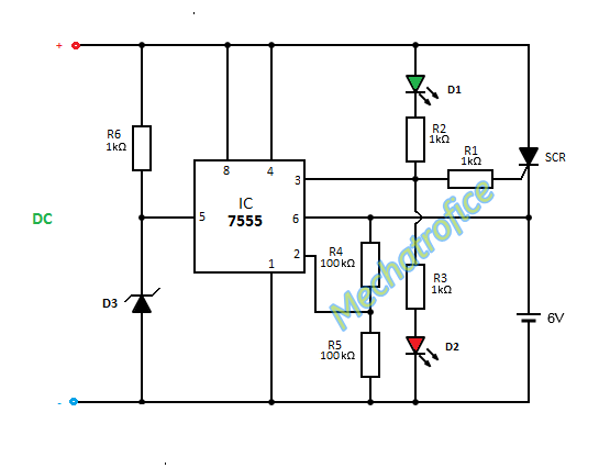 automatic battery charger for variable input voltage